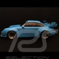 Porsche 993 RWB 1996 light blue 1/12 GT SPIRIT GT167