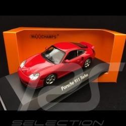Porsche 911 Turbo type 996 1999 indian red 1/43 Minichamps 940069300