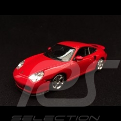 Porsche 911 Turbo type 996 1999 1/43 Minichamps 940069300 rouge indien indian rot indischrot