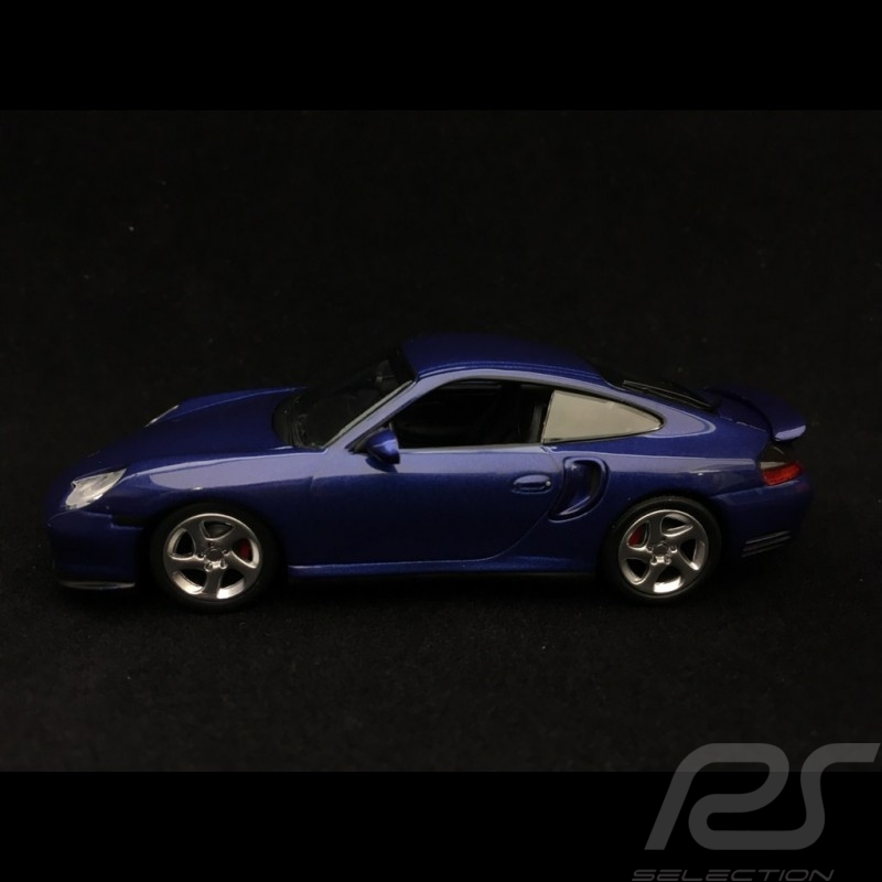 Porsche 911 Turbo type 996 1999 night blue metallic 1/43 Minichamps 940069301