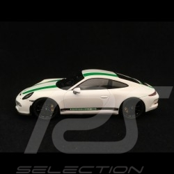 Porsche 911 R type 991 2016 blanc bandes vertes 1/43 Spark S4956