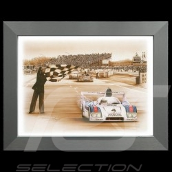 Porsche Poster 936 winner Le Mans 1977 n° 4 aluminum frame François Bruère - N69