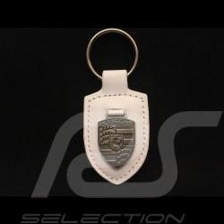Porsche crest keyring white/silver