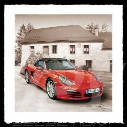 Porsche Poster Boxster red François Bruère - VA115