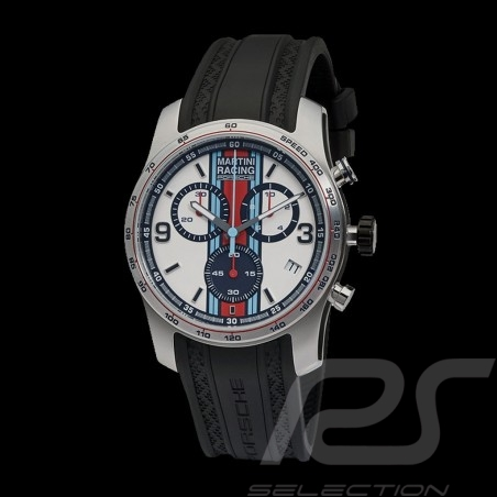 Montre Watch Uhr Porsche Chrono Sport Martini Racing argent WAP0700020J