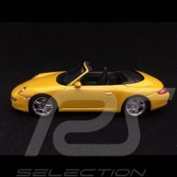 Porsche 997 Carrera S Cabriolet 2005 phase I speed yellow 1/43 Minichamps 400063031