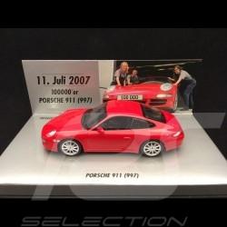 Porsche 911 Carrera S type 997 phase I 2007 red 100000 th 911 1/43 Minichamps 436063020