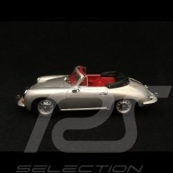 Porsche 356 C Cabriolet 1963 silver grey 1/43 Minichamps 430062330