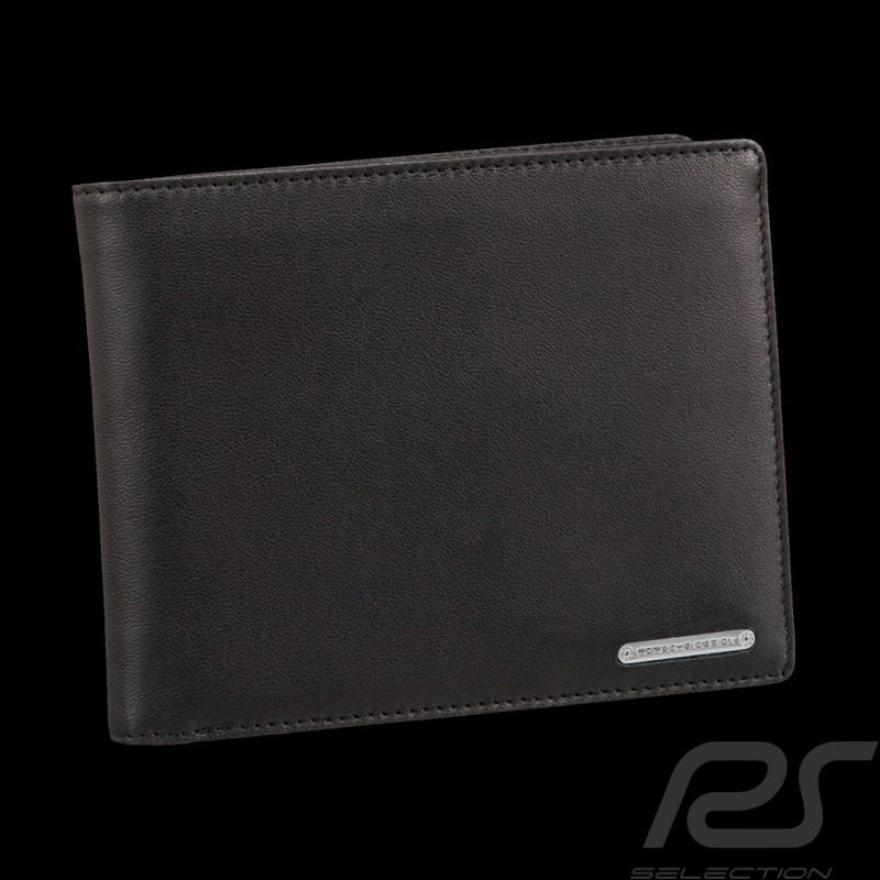Portefeuille Porsche Porte-monnaie CL2 2.0 H12 Porsche Design 4090000215 cuir noir black leather schwarze leder