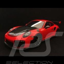 Porsche 911 GT2 RS type 991 orange fusion / noir 1/18 Spark WAX02100036