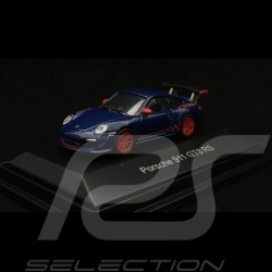 Porsche 911 GT3 RS type 997 2010 1/87 Schuco 452631600 bleu aquatique bande rouge aquatic blue red stripe aquablau rote Streife