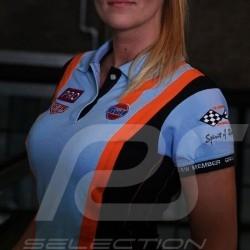 Polo Gulf Racing Team bleu cobalt - femme Polo shirt Gulf Racing Team cobalt blue - women Polo-shirt Gulf Racing Team cobalt