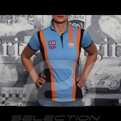 Polo-shirt Gulf Racing Team cobalt blau - Damen
