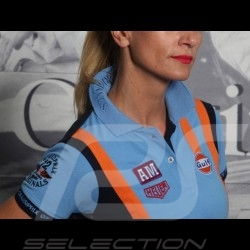 Polo shirt Gulf Racing Team cobalt blue - women