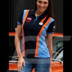Polo shirt Gulf Racing Team navy blue - women
