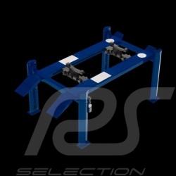 Pont élévateur 4 colonnes bleu en métal 1/18 Four-post lift blue die-cast 1/18 Four-Post Lift / Hebebühne blau aus Metall 1/18