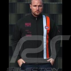 Gulf Jacket Steve Mc Queen Le Mans black fleece - men