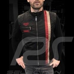 Jacket Heuer washed cotton asphalt grey sleeveless - men