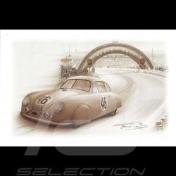 Porsche Postcard 356 Le Mans 1951 n° 46 François Bruère - CP103