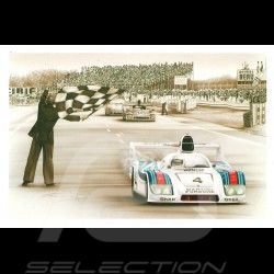 Porsche Postkarte 936 Sieger Le Mans 1977 n° 4 François Bruère - CP70
