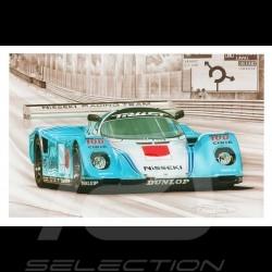 Porsche Postcard 962 C Le Mans 1990 n° 63 Nisseki François Bruère - CP159