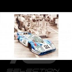 Porsche Postcard 917 LH Le Mans 1971 n° 21 Martini François Bruère - CP135