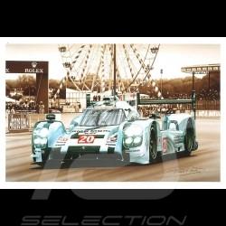 Porsche Postcard 919 Hybrid Le Mans 2014 n° 20 François Bruère - CP142