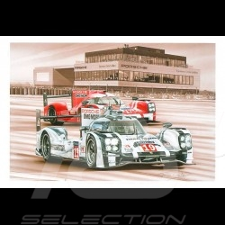 Porsche Postkarte 919 Hybrid Sieger Le Mans 2015 n° 19 François Bruère - CP151