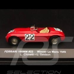 Ferrari 166 MM n° 22 Chinetti 1/43 IXO LM1949 vainqueur winner sieger Le Mans 1949