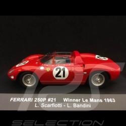 Ferrari 250 P n° 21 Scarfiotti 1/43 IXO LM1963 vainqueur winner sieger Le Mans 1963