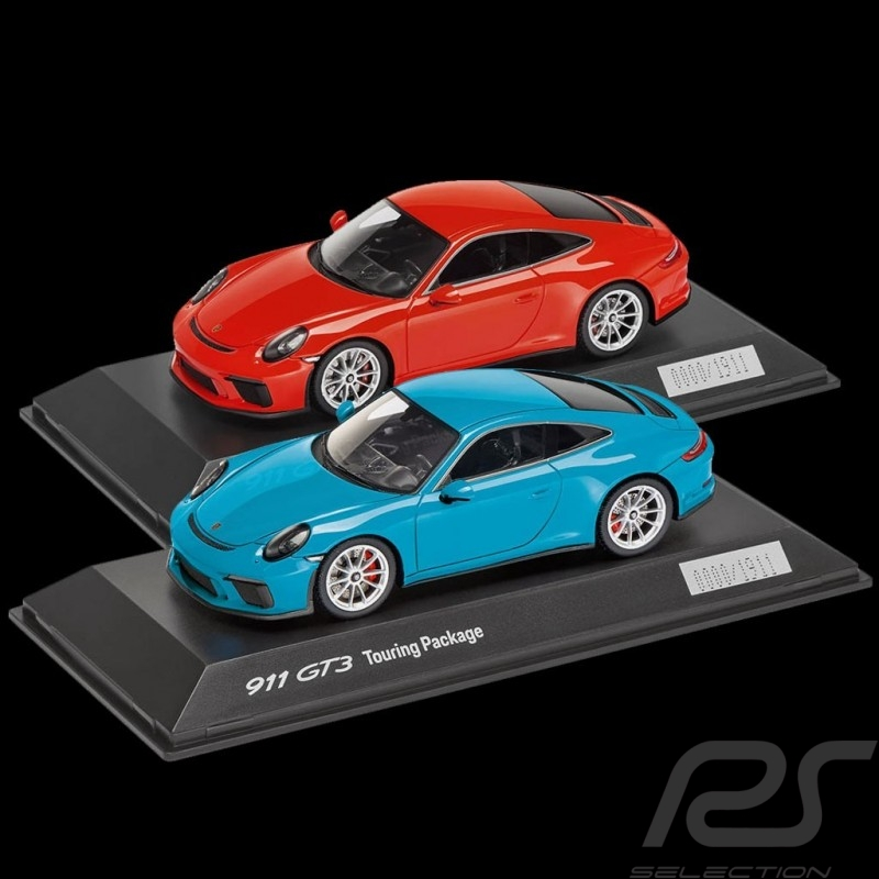 Duo Porsche 911 GT3 type 991 Touring Package 2017 1/43 Spark WAP0201630J WAP0201640J