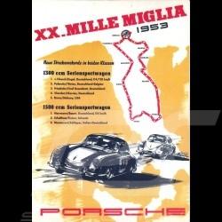 Carte postale Porsche 356 XX. Mille Miglia 1953 10x15 cm