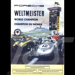 Carte postale Porsche 718 F2 Weltmeister 1960 10x15 cm