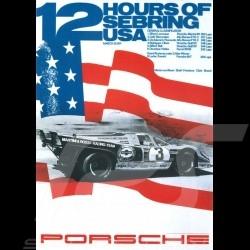 Carte postale Porsche 917 n° 3 Martini vainqueur winner sieger 12h Sebring 1971 10x15 cm