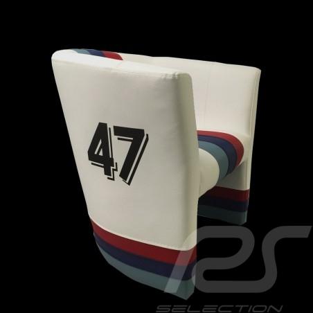 Cabriolet chair Racing Inside n° 47 white / Motorsport stripes