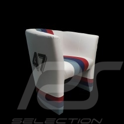 Fauteuil chair stuhl cabriolet Racing Inside n° 47 blanc / bandes Motorsport