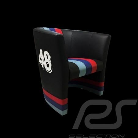 Fauteuil cabriolet Tub chair Tubstuhl  Racing Inside n° 48 noir / bandes Motorsport