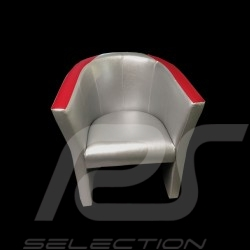 Cabriolet chair Racing Inside n° 130 Little Bastard grey / red