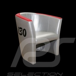 Fauteuil cabriolet Tub chair Tubstuhl Racing Inside n° 130 Little Bastard gris / rouge