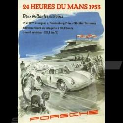 Carte postale Porsche 550 vainqueur winner sieger 24h Le Mans 1953 10x15 cm
