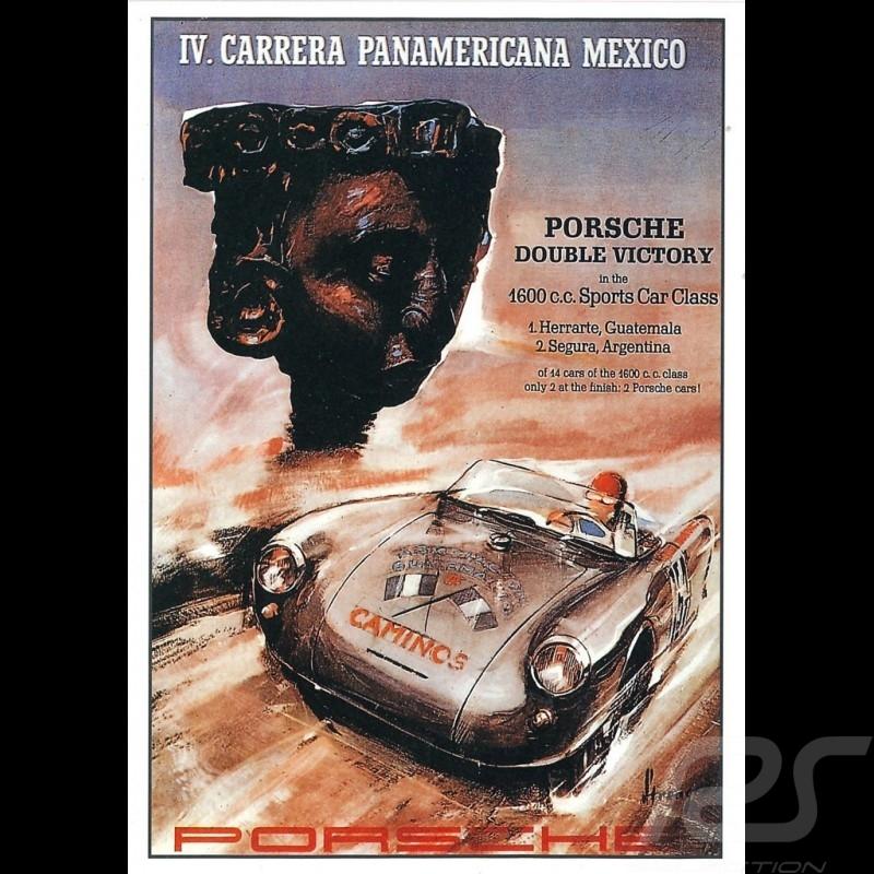 Carte postale Porsche 550 IV. Carrera Panamericana Mexico 1953 10x15 cm