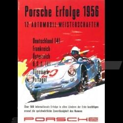 Carte postale Porsche 550 Erfolge succès successes 1956 10x15 cm
