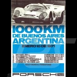Carte postale Porsche 917 n° 30 Gulf vainqueur winner sieger 1000km Buenos Aires 1971 10x15 cm