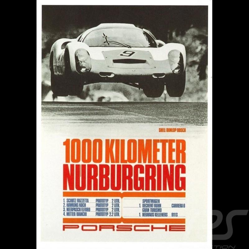 Carte postale Porsche 910 vainqueur 1000km Nurburgring 1967 10x15 cm