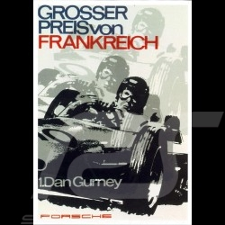 Postcard Porsche 804 French Grand Prix 1962 Dan Gurney 10x15 cm