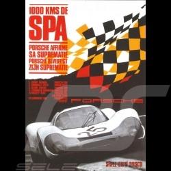 Carte postale Porsche 908 vainqueur winner sieger 1000km Spa 1969 10x15 cm