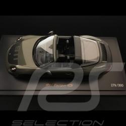 Porsche 911 Targa 4S type 991 2018 1/18 Spark WAX02100029 grise grey grau