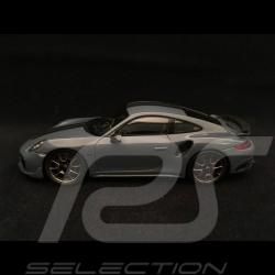 Porsche 911 Turbo S Exclusive Series 991 2017 1/43 Spark WAP0209070J grise grey grau