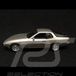 Porsche 924 1984 1/43 Minichamps 400062121 gris argent métallisé metallic silver grey silber grau