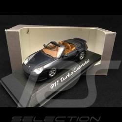 Porsche 996 Turbo Cabriolet bleu 1/43 Minichamps WAP02010114